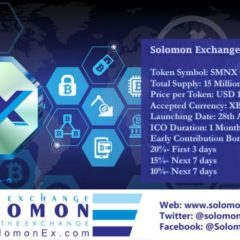 PR: SMNX ICO: An innovative Solomon Exchange for cryptocurrency