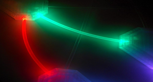 How to use an Arduino and Raspberry Pi to turn a fiber optic neural network into wall art