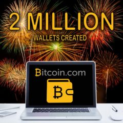 Bitcoin.com Wallet Celebrates 2 Million Wallets Created