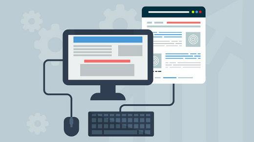 web development and design, desktop and browser