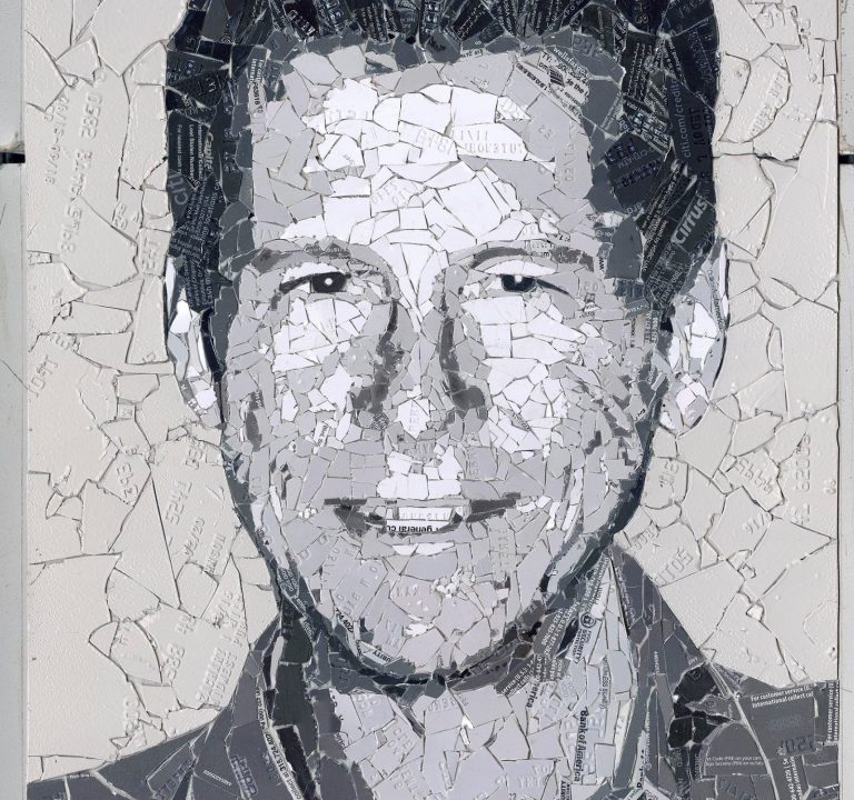 Cryptograffiti's Latest 'Running Bitcoin' Portrait Sees Auction Bids for Over $30K