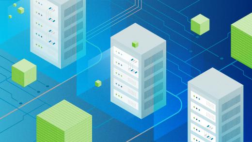 computer servers processing data