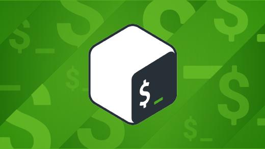 bash logo on green background