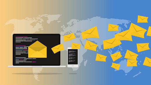email or newsletters via inbox and browser