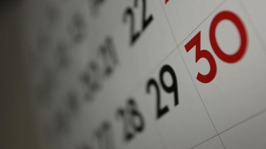 Calendar close up snapshot