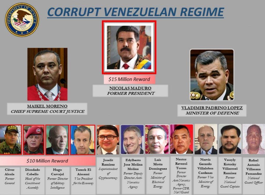 $15 Million Bounty on Maduro: US Charges Venezuelan President With Narco-Terrorism, Corruption, Drug Trafficking
