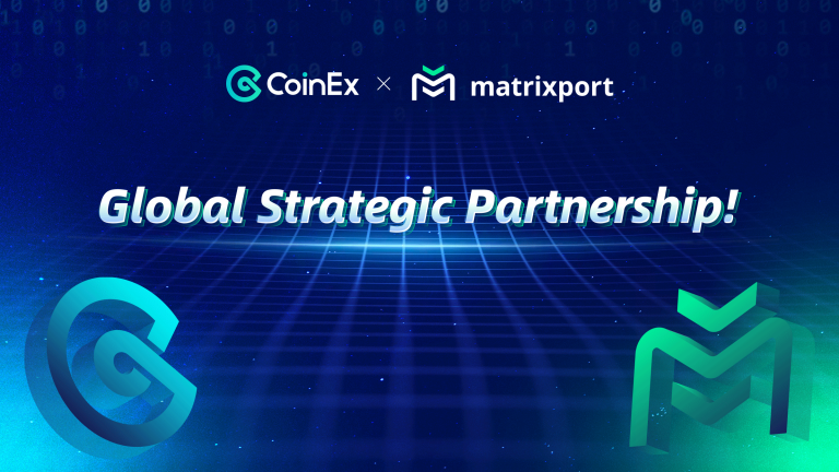 Hong Kong, 27 April, 2020 - CoinEx, a global and professional cryptocurrency exchange service provider, is pleased to announce its new global strategic partnership with Matrixport, the one-stop digital asset financial service platform span off from Bitmain.