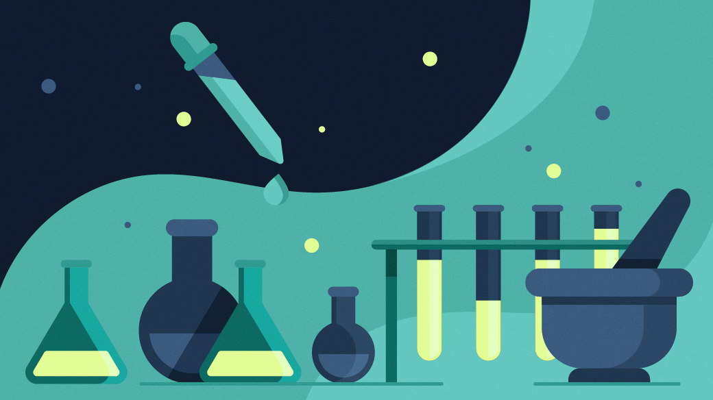 Science lab with beakers