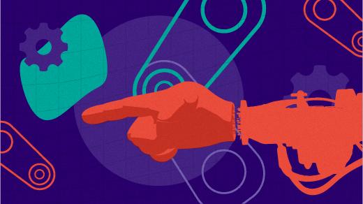 A robot arm illustration